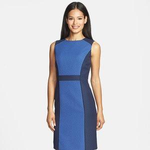 Tahari colorblock sleeveless dress